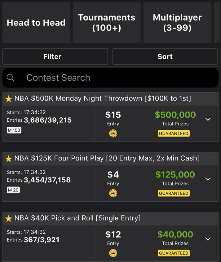 DIY for NBA DFS: Tournament Selection Strategy