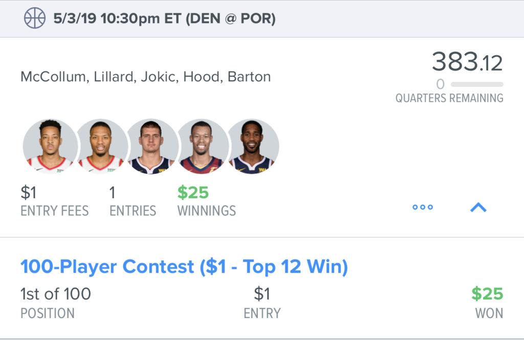 How To Play Showdown And Single Game Contests In The NBA Playoffs-2