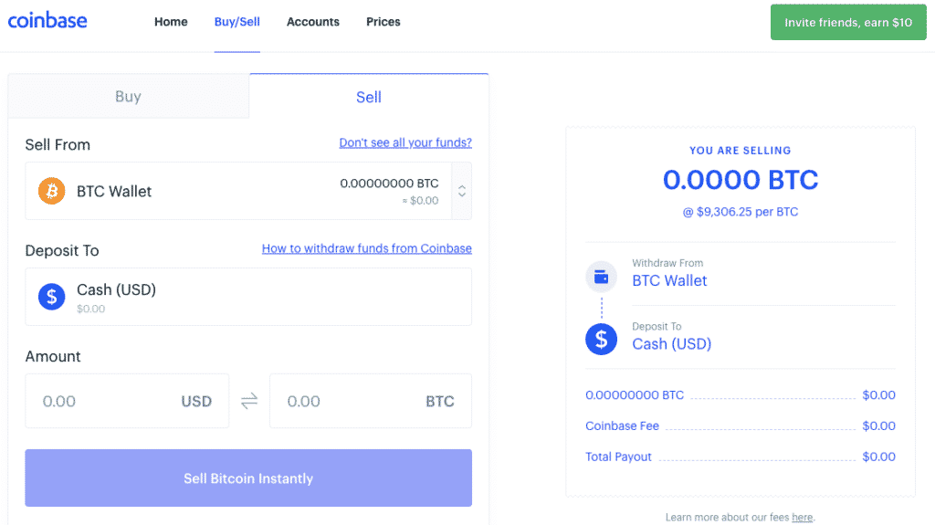 Sell Bitcoin On Coinbase