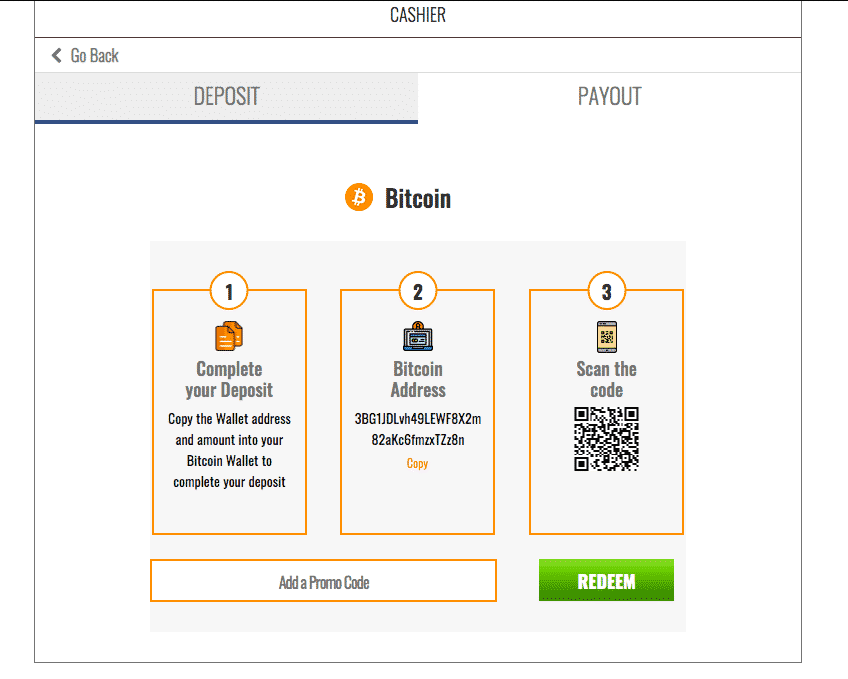 depositing to an online sports book with bitcoin