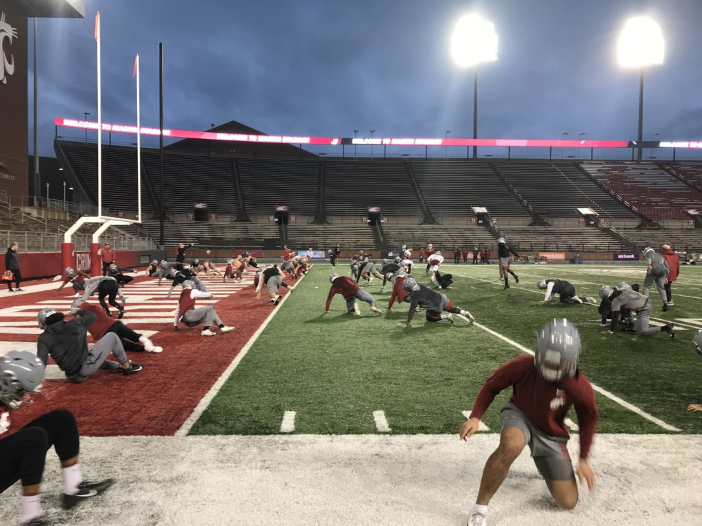 washington state football practice