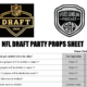 Printable NFL Draft 2020 Party Props Sheet