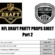 Printable NFL Draft 2020 Party Props Sheet Part 2 for Friday and Saturday