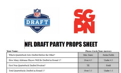 Printable NFL 2021 Draft Party Props Sheet