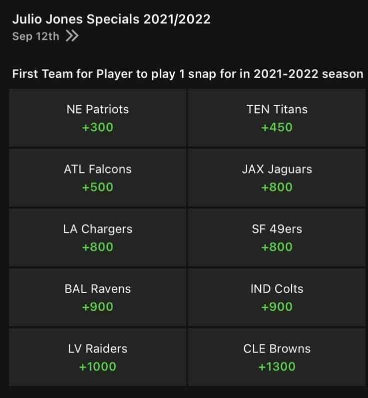 Julio Jones Trade Odds