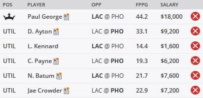 NBA DFS Picks 6/22 - LAC/PHO Showdown