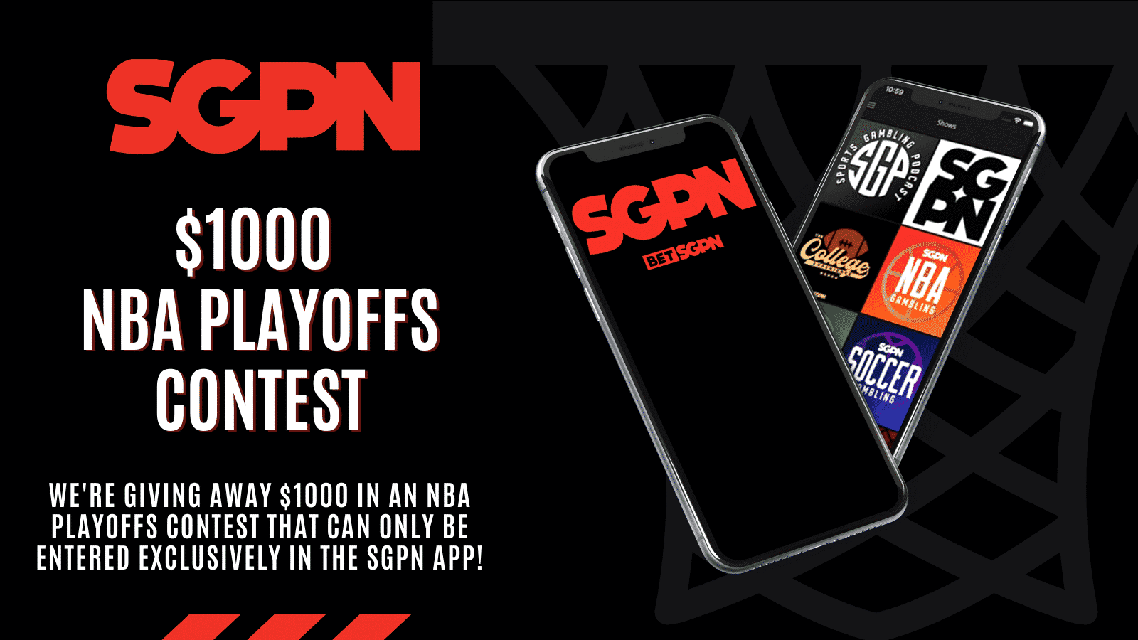 SGPN App Is Live With A $1000 NBA Freeroll