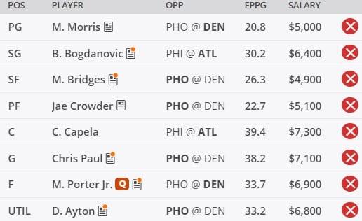 NBA DFS Picks 6/11 - DraftKings GPP Picks